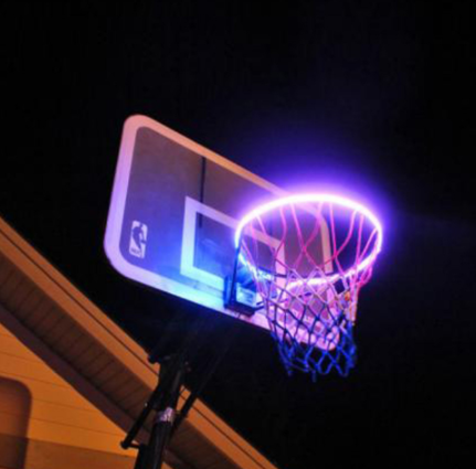 40led basket hoop sunlight playing at night lighted hoop accessory basketball hoop helps you shoot hoops at night lamp takes led 2020