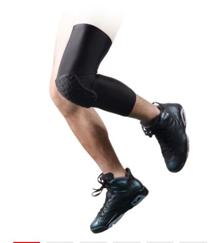 New-new upgrated honeycomb crashproof basketball leg long sleeve protective black gear m
