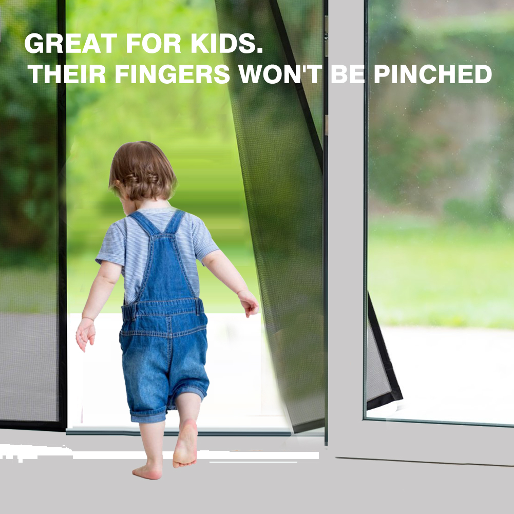 Magnetic Screen Door Fiberglass Mesh Screen Door with Magnets, Fly Mosquitos Bug Insect Screen for Sliding Glass Door French Door Patio Door, Full Frame Hook & Loop, Hands Free, Pet Friendly (34