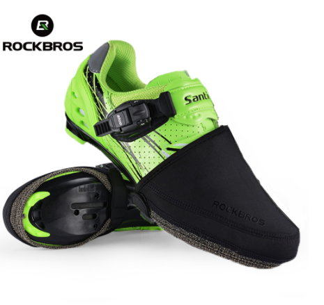 Rockbros bicycle cycling shoe mtb abrasion resistant windproof shoes keep warm black half overshoes shoe covers protector